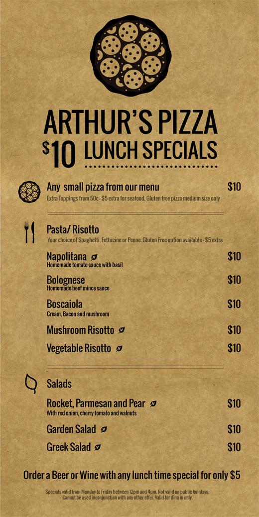 Lunch Menu Specials